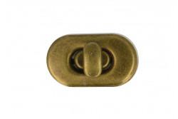 Fermoir tourniquet pour sac coloris bronze