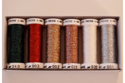 "Pack de 6 bobines de fils métallisés ""Noel"""