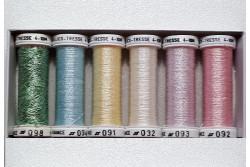 """Pack de 6 bobines de fils métallisés """"Pastel"""""""