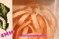 Rubans de soie 4mm Au ver à Soie