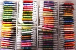 """Ruban de soie 2 mm """" House of embroidery """""""