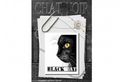 "Diagramme point de croix ""Le chat noir"""