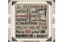 """Diagramme point de croix """"Je suis une Brodeuse"""""""