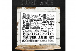 "Diagramme point de croix ""Super Amie"""