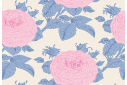 "Tissu Tilda collection  ""Sunkiss"" Grandma's blue"