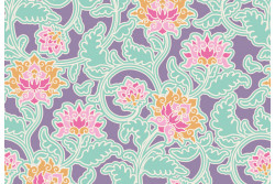 "Tissu Tilda collection  ""Sunkiss"" Sunk Suraj Lilac"