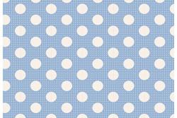 Tissu Tilda collection Bleu pois moyens