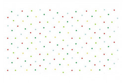 "Tissu Patch ""Jolly Santa Multi stars"" étoiles sur fond blanc"