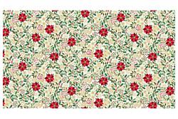 "Tissu Patch ""Silent Foliage Cream"" petits motifs Noël fond ivoire"