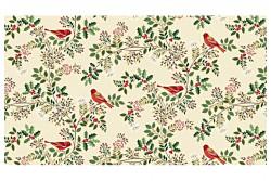 """Tissu Patch """"Silent Birds..."""" Oiseaux sur branches"""