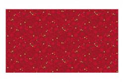 """Tissu Patch """"Silent Tonal """" petits motifs rouges"""