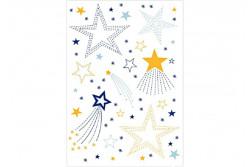 Feuille magique de broderie traditionnelle DMC étoiles
