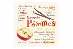 "Diagramme au point de croix Lilipoints "" Compote de pommes"""