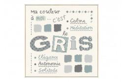 """Diagramme au point de croix Lilipoints """" Le gris """""""