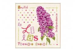 """Diagramme au point de croix Lilipoints """" Lilas """""""