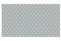 Tissu Couture pour enfant pois ivoire sur fond gris