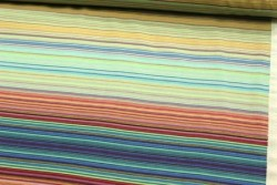 """Tissu Patchwork """" Carib Stripes """" rayures multico"""